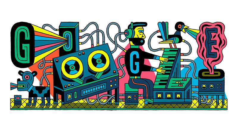 德國電子音樂錄音室 WDR 66 週年生日紀念塗鴉