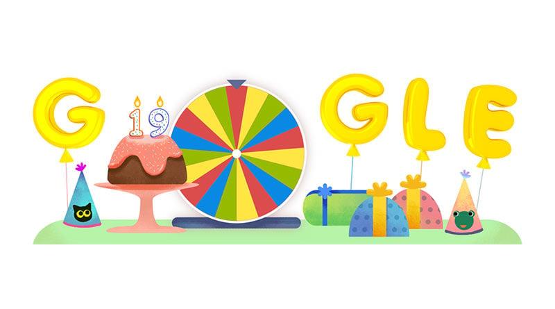 Google 生日幸運轉盤迎接 19 周年慶多項驚喜