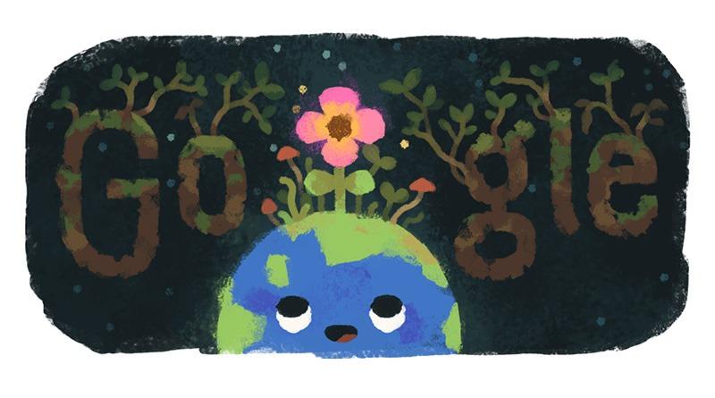 春分迎接春暖花開#立春春分傻傻分不清楚之 Google 塗鴉