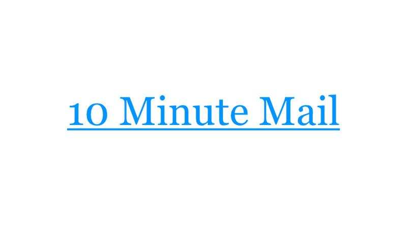 10 Minute Mail 老牌著名拋棄式臨時信箱