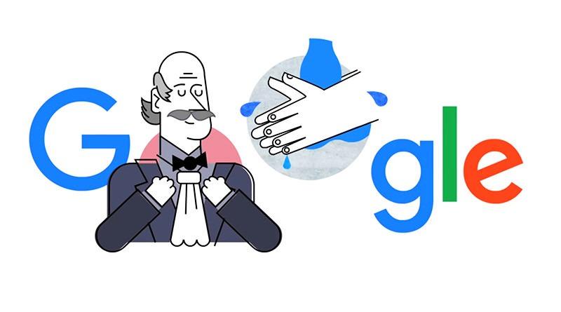 Ignaz Semmelweis 醫生推廣正確洗手遠離病菌故事紀念塗鴉