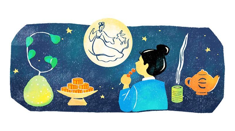 2020 年中秋節快樂#Google 塗鴉與全球各國慶祝方式