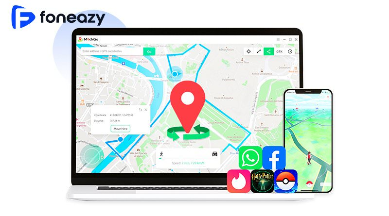 MockGo 免越獄改機 iPhone 飛人模式 GPS 定位修改軟體教學