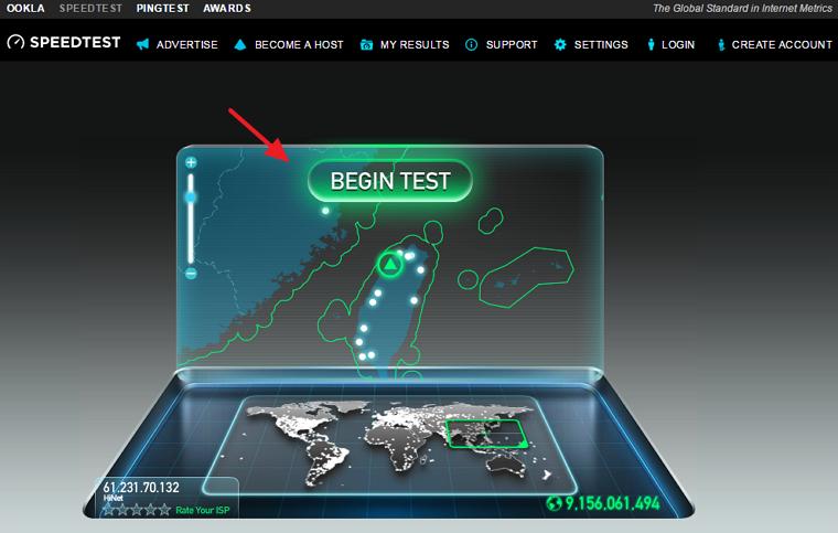 Speedtest 電腦/手機線上測速網站@附 App 程式