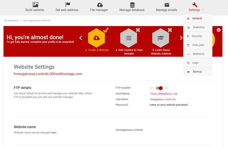000Webhost – 老牌免費 PHP +MySQL 空間申請教學