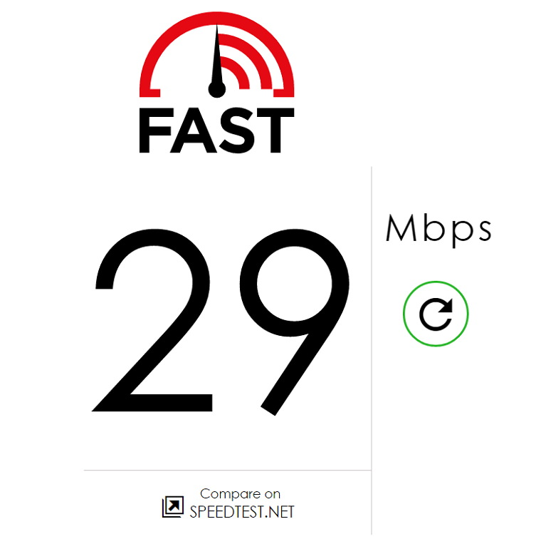 FAST.com – 來自 Netflix 影音平台網路連線測速服務