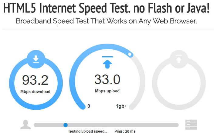 OpenSpeedTest – 免費檢測網路速度/頻寬測速網站