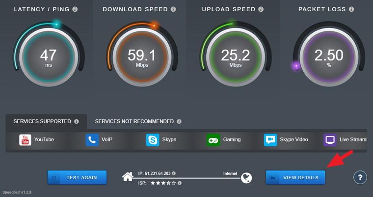 SourceForge Speed Test 一鍵測速及檢查延遲平台