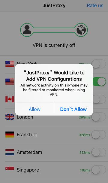 Just Proxy VPN 一鍵隱藏 IP 翻牆軟體@免費多國節點