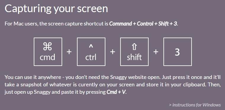 Snaggy – 免裝軟體上傳分享螢幕畫面圖片空間
