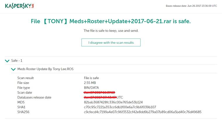 Kaspersky VirusDesk 卡巴斯基網頁檔案線上掃毒服務
