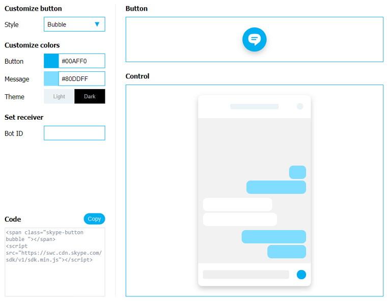 Skype Web Control 網頁嵌入聊天室窗免費即時交談