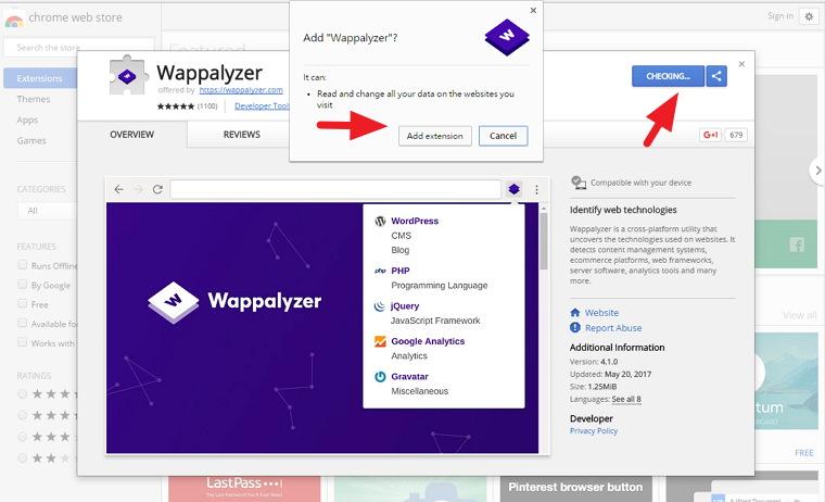 Wappalyzer 一鍵分析顯示網站主機 / 環境框架