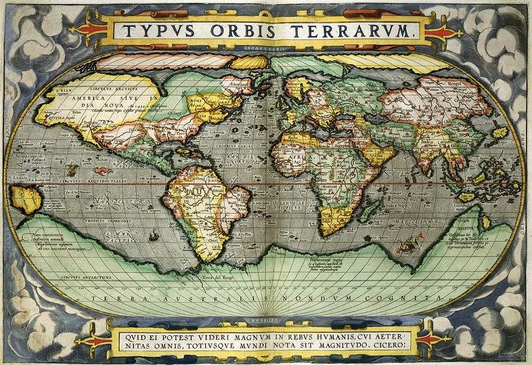紀念世界地圖作者亞伯拉罕·奧特柳斯 Abraham Ortelius 塗鴉