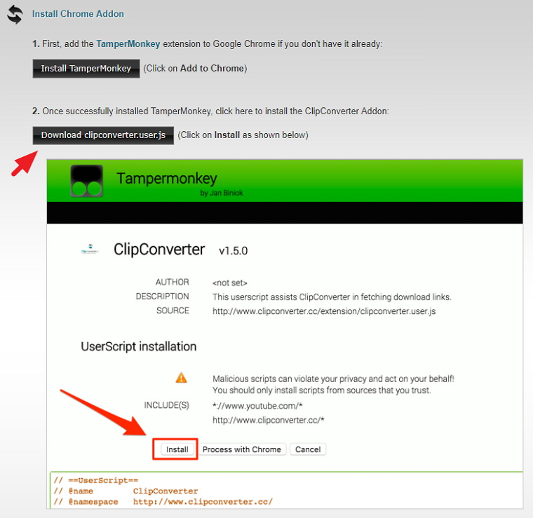 ClipConverter 支援 Chrome / Firefox 一鍵下載 YouTube 影片