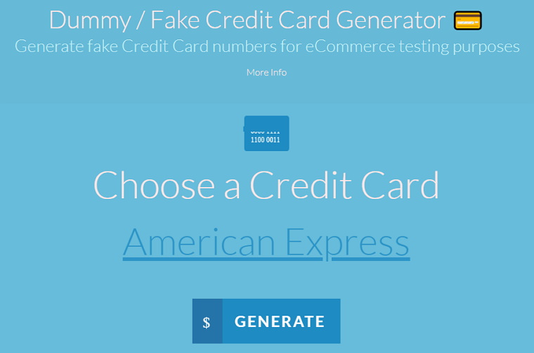 Dummy Card Generator 網路交易開發測試信用卡號產生器