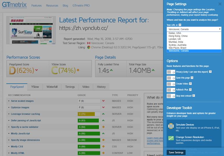 GTmetrix 免費網站速度檢測/效能最佳化增強 SEO 分析服務
