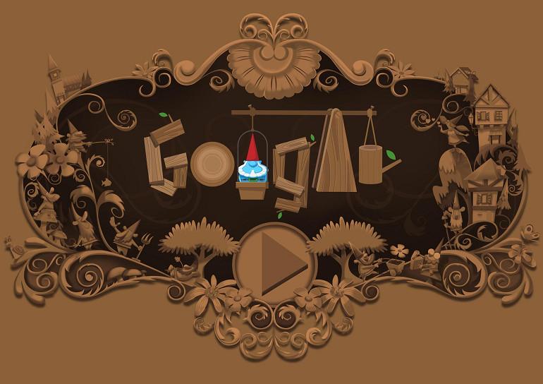Google 首頁塗鴉紀念知名小精靈「花園地精」互動遊戲