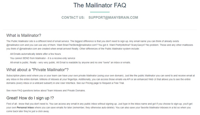 Mailinator 可自訂 ID 免註冊使用隨機信箱