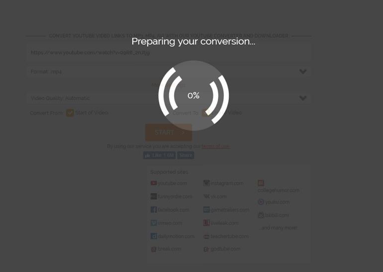 OnlineVideoConverter 支援 FB / YouTube 多平台剪輯轉檔下載