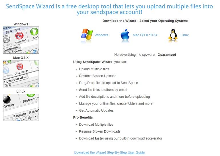 SendSpace 免註冊無限制上傳分享檔案空間#附使用教學