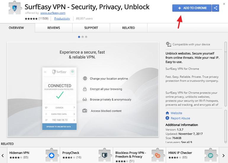 SurfEasy 提供美英澳德義日多國伺服器電腦手機 VPN 軟體