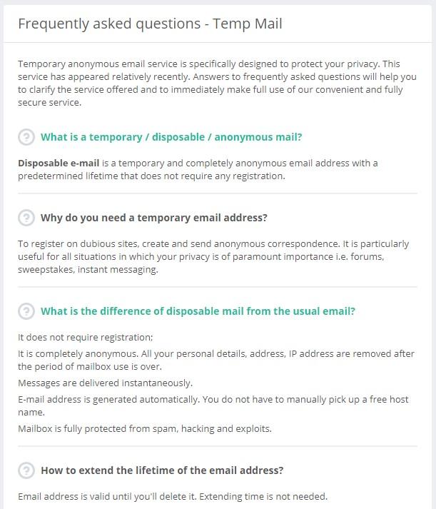 Temp Mail 不用註冊會員自訂網域多國語言臨時信箱