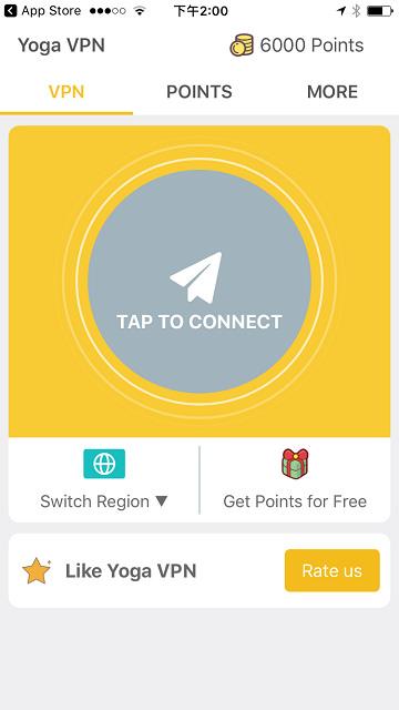 Yoga VPN 免注册一键换 IP 手机软件支援 iOS / Android