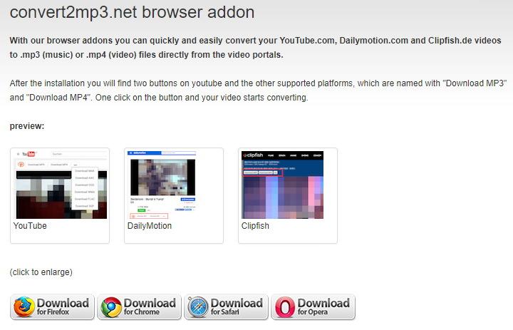 支援 YouTube & Dailymotion 免裝軟體影片下載 & 音樂轉檔服務