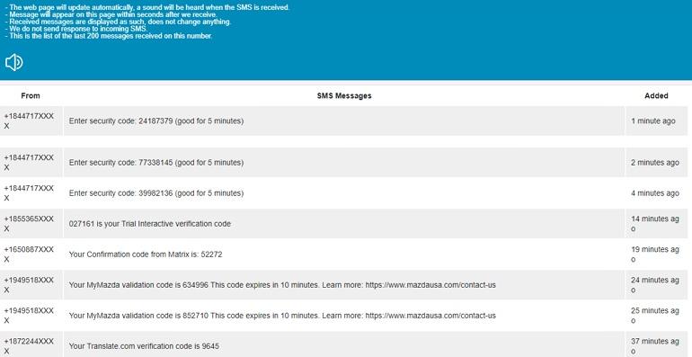 Receive SMS Online 超過 10 個國家免費線上收簡訊服務