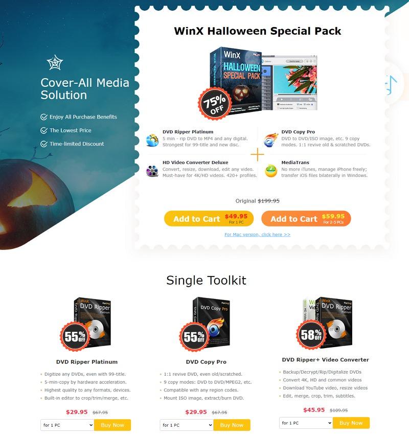 2020 年萬聖節塗鴉互動小遊戲 + WinXDVD 限免送軟體活動