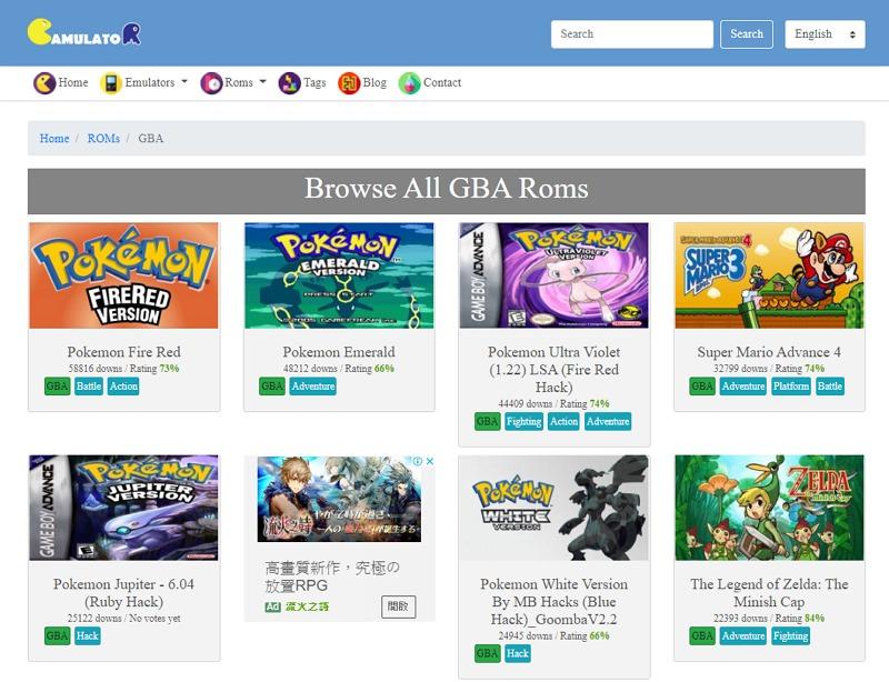 GBA / GB 游戏下载#Game Boy GBA 模拟器 ROM 下载网站推荐
