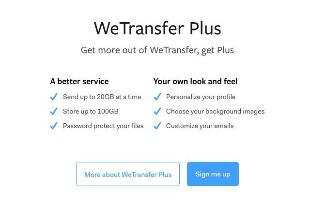 WeTransfer 免費不用註冊 2GB 保存 7 天空間#支援手機 App