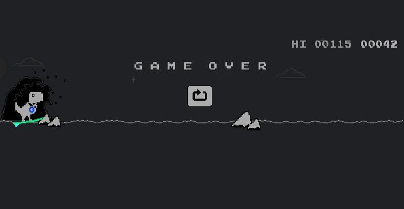東奧遊戲#隱藏 Chrome 瀏覽器 Dino Run 小恐龍奧運闖關彩蛋