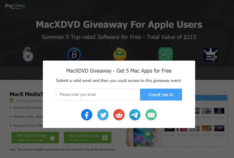 MacXDVD 專屬 MacOSX 用戶五套軟體下載限時免費活動